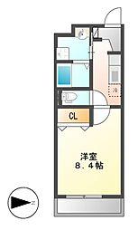 セントラルハイツ名古屋[2階]の間取り