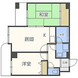 北海道札幌市東区北三十二条東12丁目の賃貸マンションの間取り