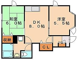 平田台アネックス[1階]の間取り