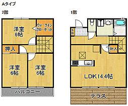 セジュールマロウA棟B棟[2階]の間取り