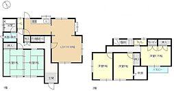 現在リフォーム中 5LDKの間取り図です。全部屋南向きで明るいお家になっています。