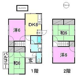 [一戸建] 愛媛県松山市祝谷2丁目 の賃貸【/】の間取り