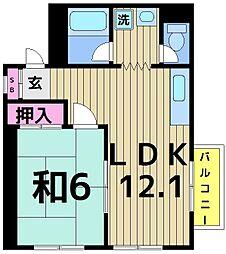東京都足立区千住2丁目の賃貸マンションの間取り