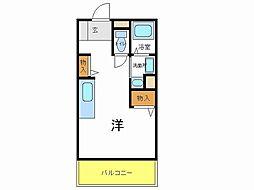 兵庫県加古川市平岡町新在家1丁目の賃貸マンションの間取り