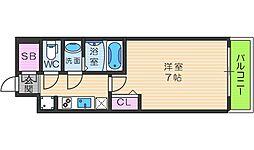 ファステートNAMBA華月 12階1Kの間取り