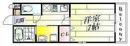 フローラコート[3階]の間取り