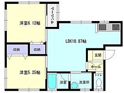 秋田県横手市旭川2丁目の賃貸アパートの間取り