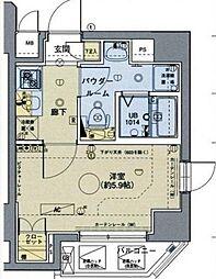 東京都新宿区西落合1丁目の賃貸マンションの間取り