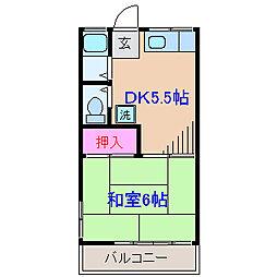 第一渡辺ハイツ[2階]の間取り