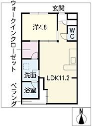 SK'BUILDING−9N棟[2階]の間取り