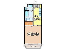 静岡県富士市荒田島町の賃貸マンションの間取り