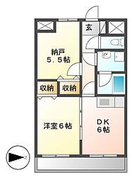 第3エステート丸万[5階]の間取り