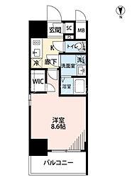 Osaka Metro御堂筋線 江坂駅 徒歩9分の賃貸マンション 2階1Kの間取り