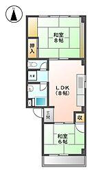 三共ビル[4階]の間取り