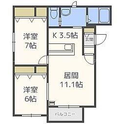 シャトルTH23[4階]の間取り