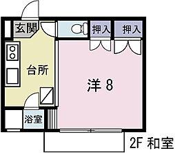 金沢下宿[102号室]の間取り