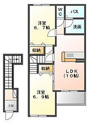 LaLa[2階]の間取り