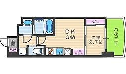 セレニテ福島シェルト[6階]の間取り