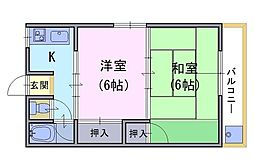 六斉ハイツ[3階]の間取り
