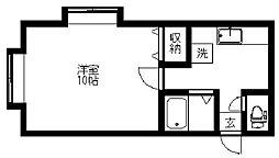 新潟県新潟市東区牡丹山5丁目の賃貸アパートの間取り