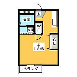 ひまわりコーポ[1階]の間取り