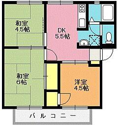 リバティハイツ[2階]の間取り