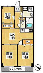 ヤマトマンション[305号室]の間取り