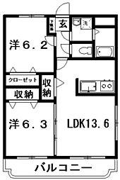マリベールライツ[3階]の間取り