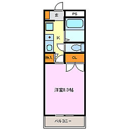 Phlox五反田[202号室]の間取り