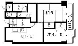 グランディール松浦[4階]の間取り