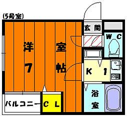 スカイライフ鎧坂[2階]の間取り