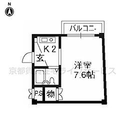 ヴィラ東海今熊野[306号室]の間取り