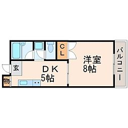 兵庫県西宮市能登町の賃貸アパートの間取り