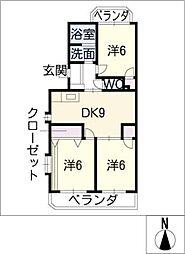 東栄サンハイツ[3階]の間取り