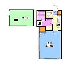 神奈川県横浜市港南区大久保2丁目の賃貸アパートの間取り
