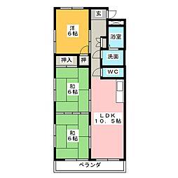 ウインザーK&Yマンション[2階]の間取り