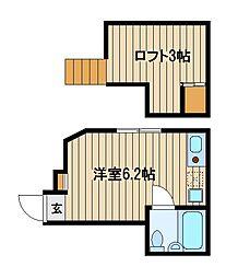 埼玉県新座市栗原5の賃貸アパートの間取り