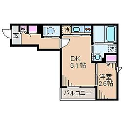 神奈川県横浜市港北区大倉山2丁目の賃貸マンションの間取り