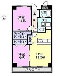 愛知県一宮市大和町妙興寺字中之町の賃貸マンションの間取り