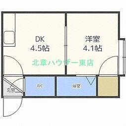 北海道札幌市東区北三十一条東4丁目の賃貸アパートの間取り