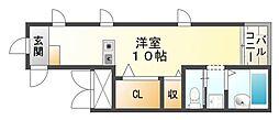 リブラブウエスト神戸[2階]の間取り