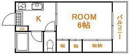 埼玉県ふじみ野市鶴ケ舞1丁目の賃貸アパートの間取り