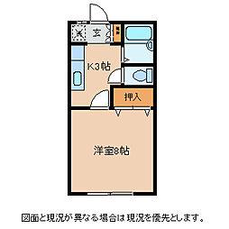 長野県茅野市宮川西山の賃貸アパートの間取り