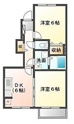サンガーデン和泉[1階]の間取り