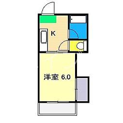 村田マンション[3階]の間取り
