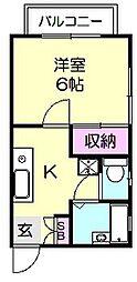 メゾンストリーム[1階]の間取り