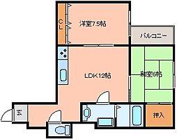 サンピアハイツIII[4階]の間取り
