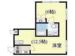 新大阪GHビル[6階]の間取り