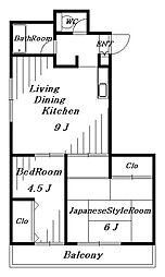 稲毛クレスト[3階]の間取り