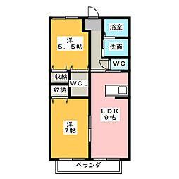 日和[2階]の間取り